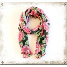 Sjal rosa blommor