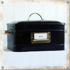 Plåtbox, svart - utgående