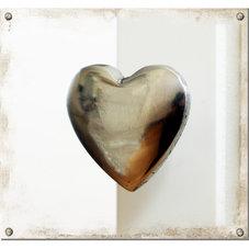Knopp silverfärgat hjärta