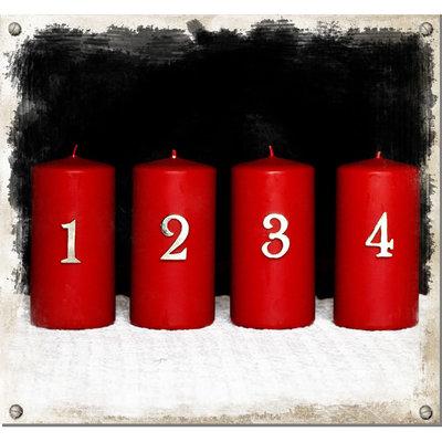 Ljusdekoration för blockljus, 4-set advent