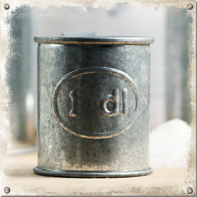 Mått zink, 1 deciliter