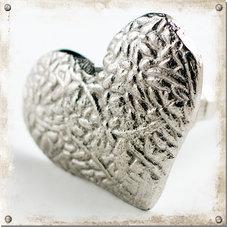 Metallknopp hjärta, ljus