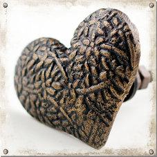 Metallknopp hjärta, mörk