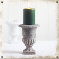 Ljusstake Pokal, grå - 2-pack