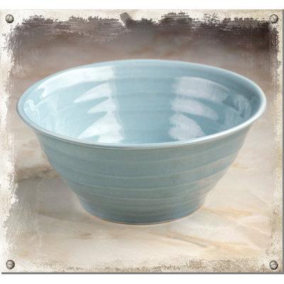 Blå keramikskål