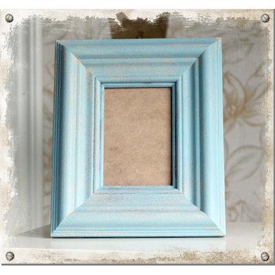 Blå fotoram 11x16 cm