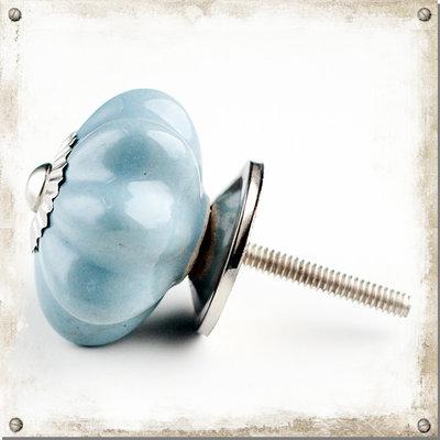 Gråblå knopp i porslin