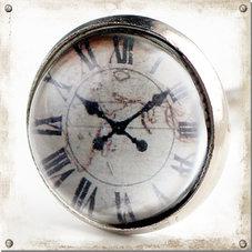 Metallknopp med glas, romerskt ur