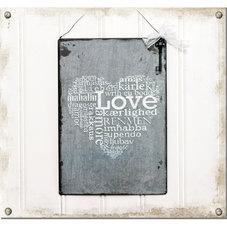 Plåtskylt med nyckel - Love - utgående