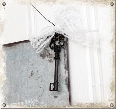 Plåtskylt med nyckel - Love
