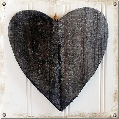 Hjärta i trä, grå