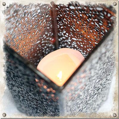 Ljuslykta Pelare brun, stor