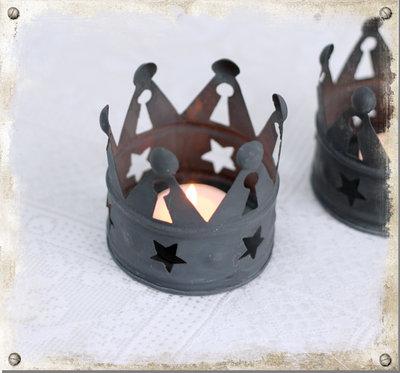 Krona med stjärnor för värmeljus, 2-pack