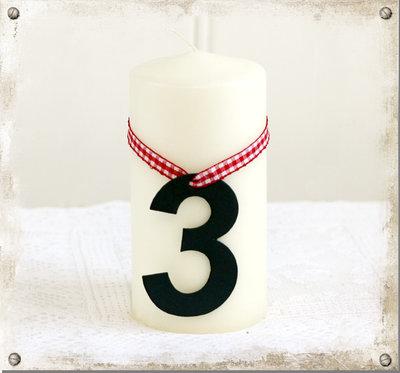 Adventsiffror för blockljus, 4-set