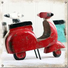 Scooter, röd