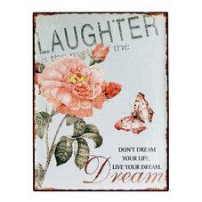 Plåtskylt - Laughter