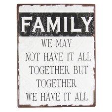 Plåtskylt - Family