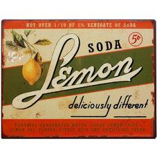 Plåtskylt - Lemon soda