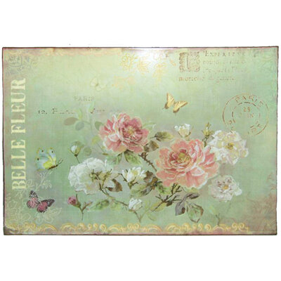 Plåtskylt - Belle fleur
